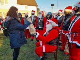 Mikołaje na motorach w Sarbii